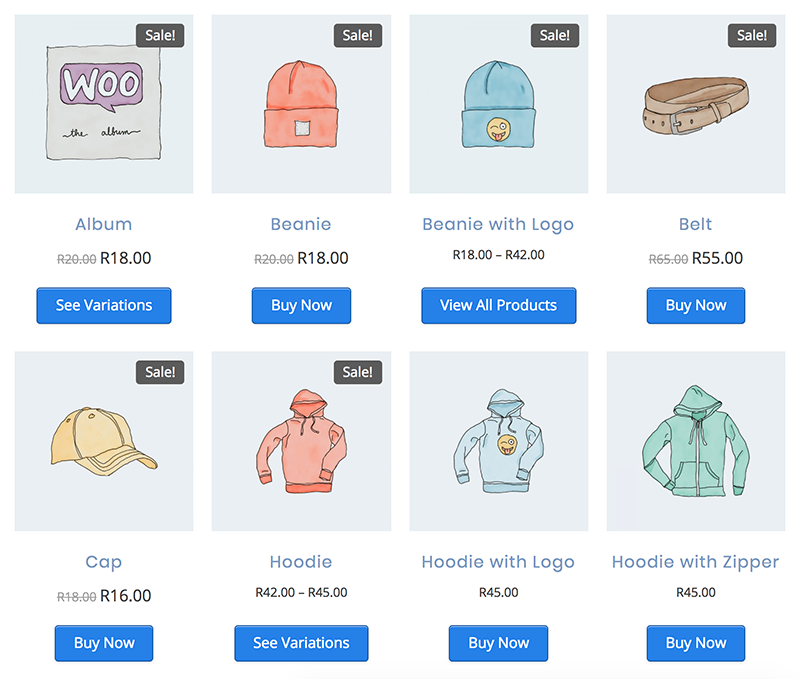 Edit the WooCommerce button text for all product types