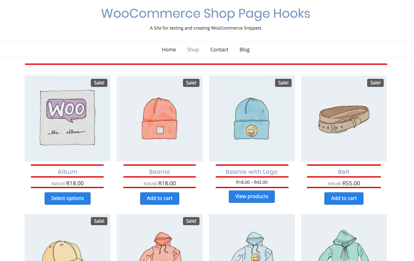 WooCommerce Shop Page Hooks – Easy visual guide