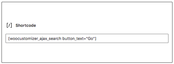 [woocustomizer_ajax_search] : setting the button text attribute