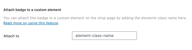 StoreCustomizer - Add badge to custom element